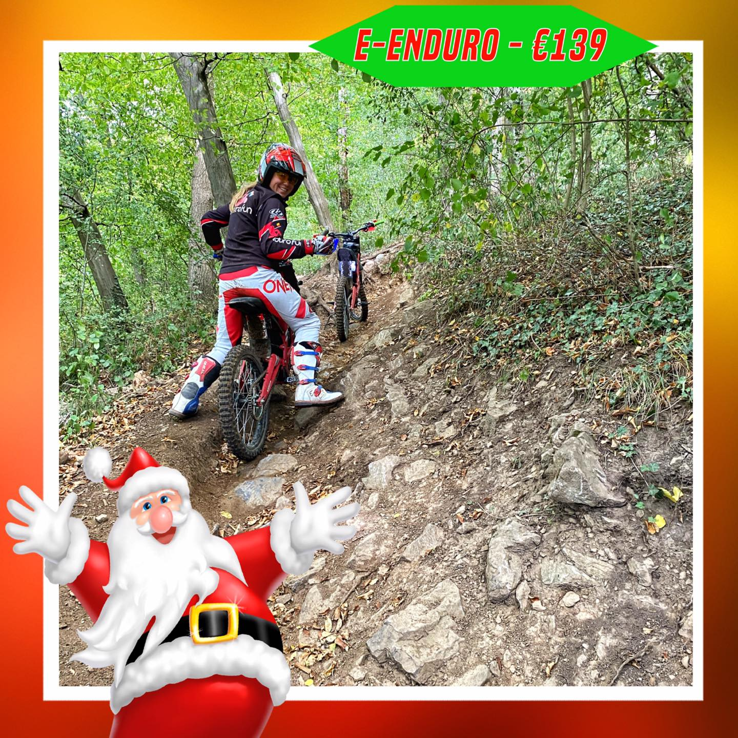 Kerst-initiaties Bilstain Endurofun 39 Surron